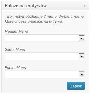 dodawanie menu w wordpress