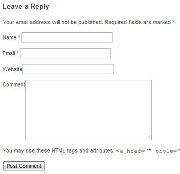 wordpress formularz komentarzy