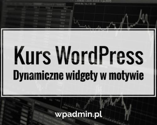 WordPress widgety w motywie