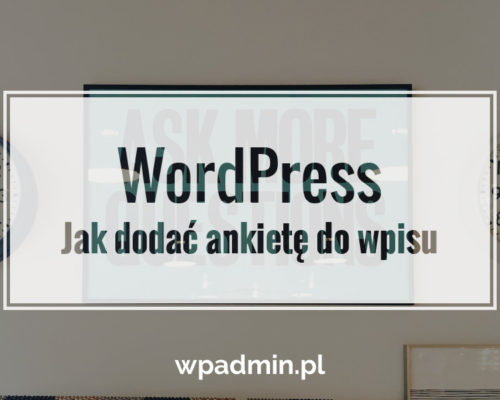 WordPress ankieta