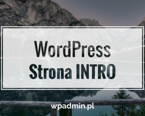 WordPress zmieniamy stronę główną