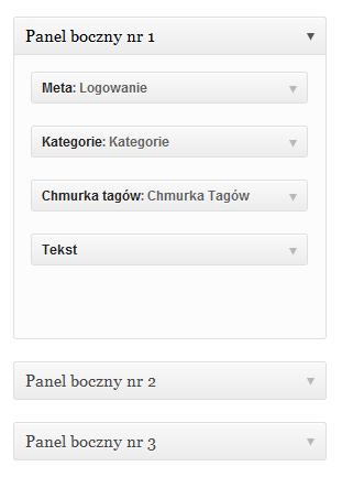 WordPress dodawanie widgetów