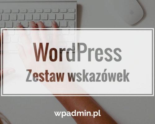 Wskazówki do WordPress
