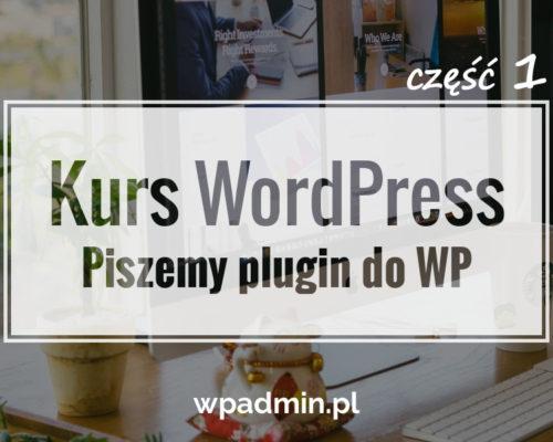 Jak napisać plugin do WordPress