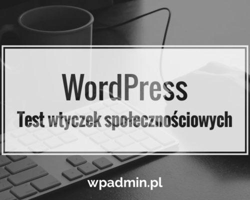 WordPress wtyczki społecznościowe