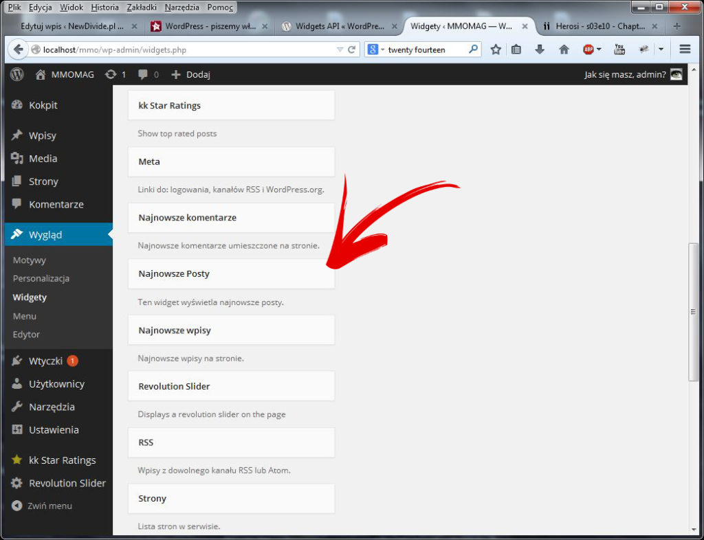 WordPress widget tutorial