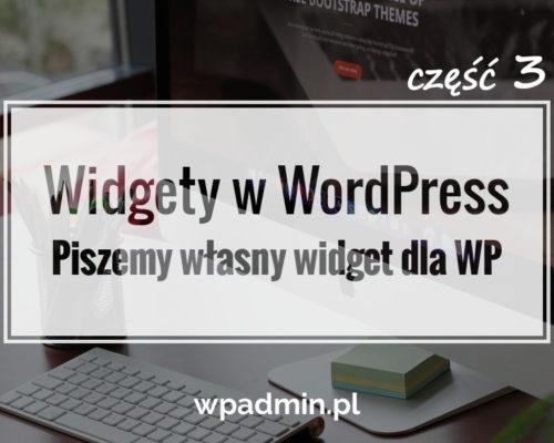 Piszemy widget WordPress