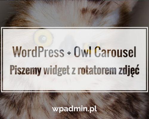 Owl Carousel w WordPress. Piszemy własny widget