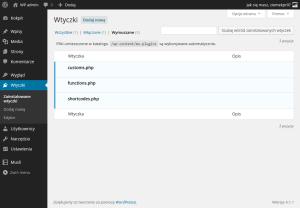 WordPress pluginy wymuszone