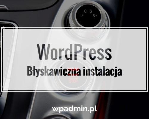 Błyskawiczna instalacja WordPress