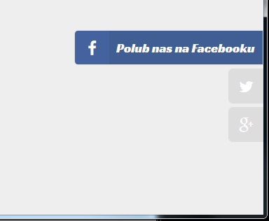 Facebook social links slider