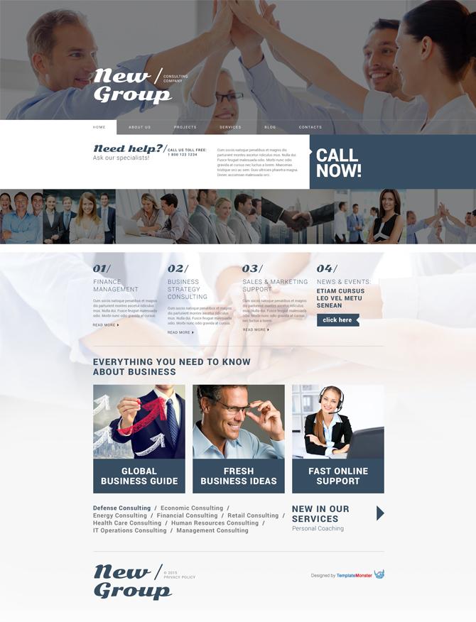 Zrzut ekranu motywu do WP dla Usług Doradczych
