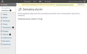 WordPress manualna aktualizacja
