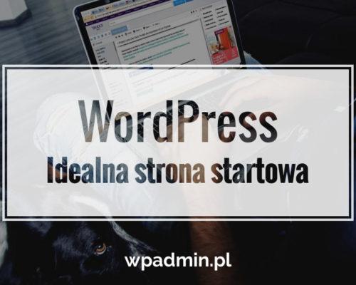 Idealna strona startowa wordpress