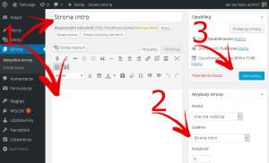 WordPress - Budowanie strony startowej