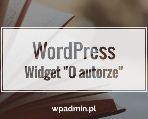 WordPress widget o autorze