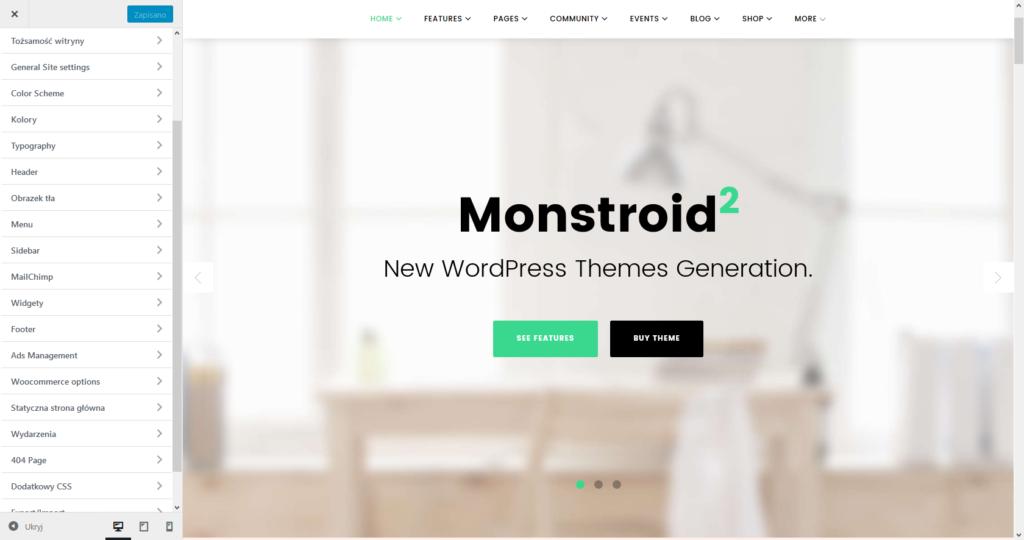 TemplateMonster Monstroid2 Personalizacja