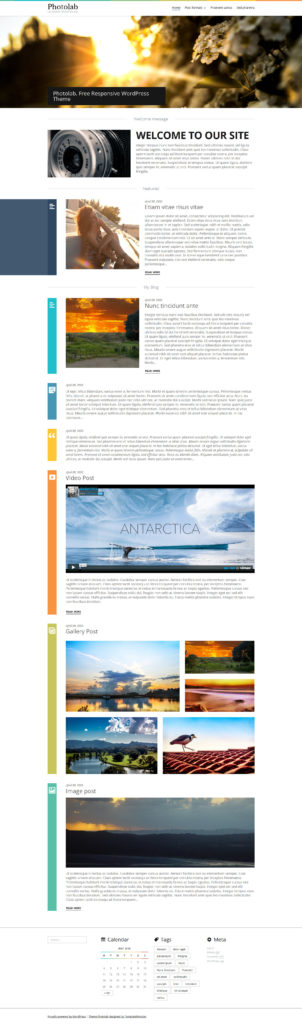 darmowe motywy WordPress Photo Lab Responsive WordPress Theme