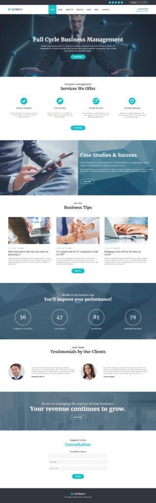 WordPress Globaly - motyw agencji interaktywnej