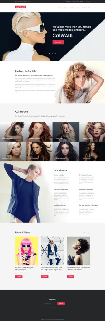 WordPress Catwalk - Fashion Modeling Agency