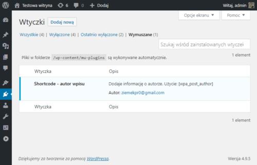 plugin WorPress o autorze