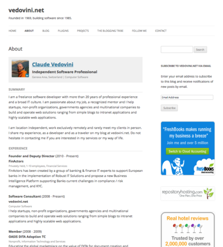 CV z LinkedIn w WordPress
